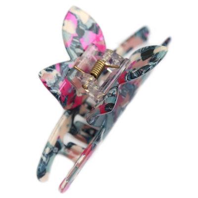 Barette à cheveux butterfly blue pink