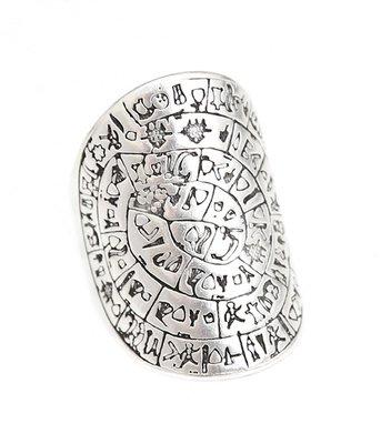 Bague hieroglief argent