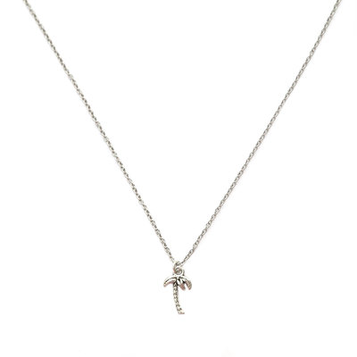 Collier palm tree argent