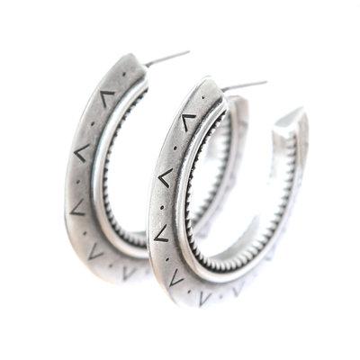 Boucles d'oreilles aztec argent