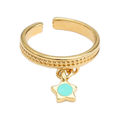 Bague turquoise star or