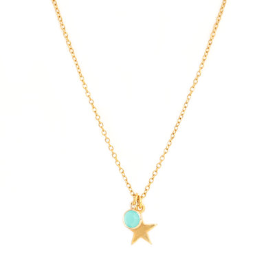 Collier star blue gold