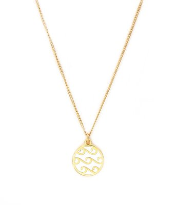 Collier white waves or