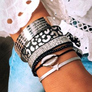 Silver set bracelets Love Ibiza