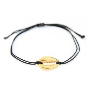 Shell bracelet black gold
