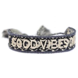 Geweven armbandje good vibes only