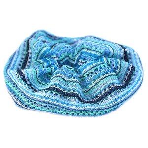 Chouchou large boho blue