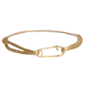 Safety pin bracelet or